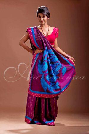 purple Kanchivaram silk saree-0