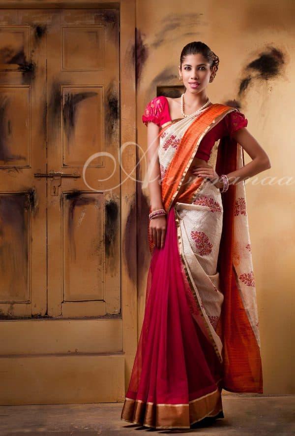Net and Tussar saree-209