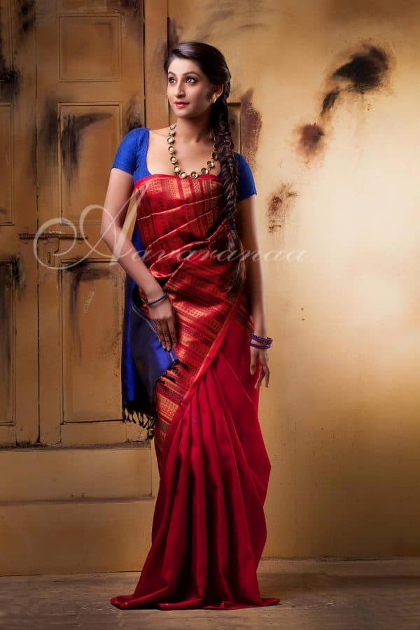 Pure kancheevaram silk saree-0