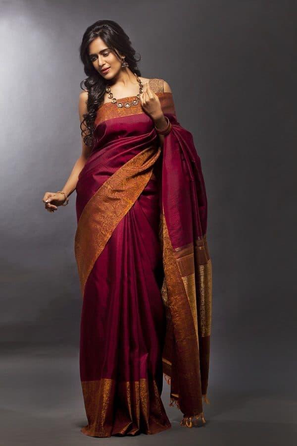 Maroon kanchivaram silk-0