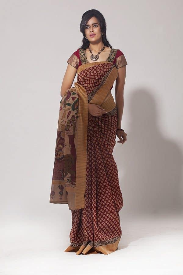 Maheshwari cotton saree-0