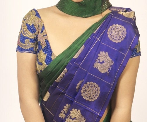 Blue Cutwork blouse-0