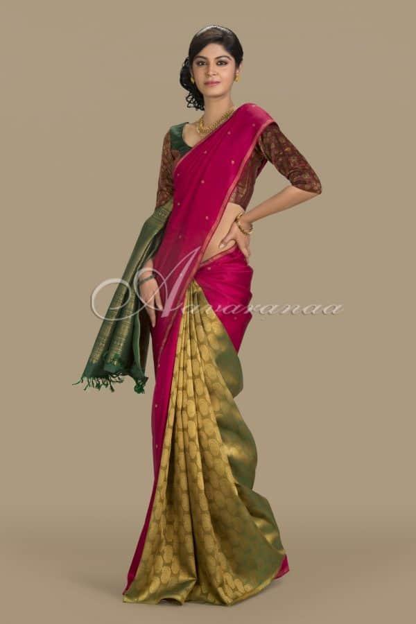 3 coloured partly pallu -0