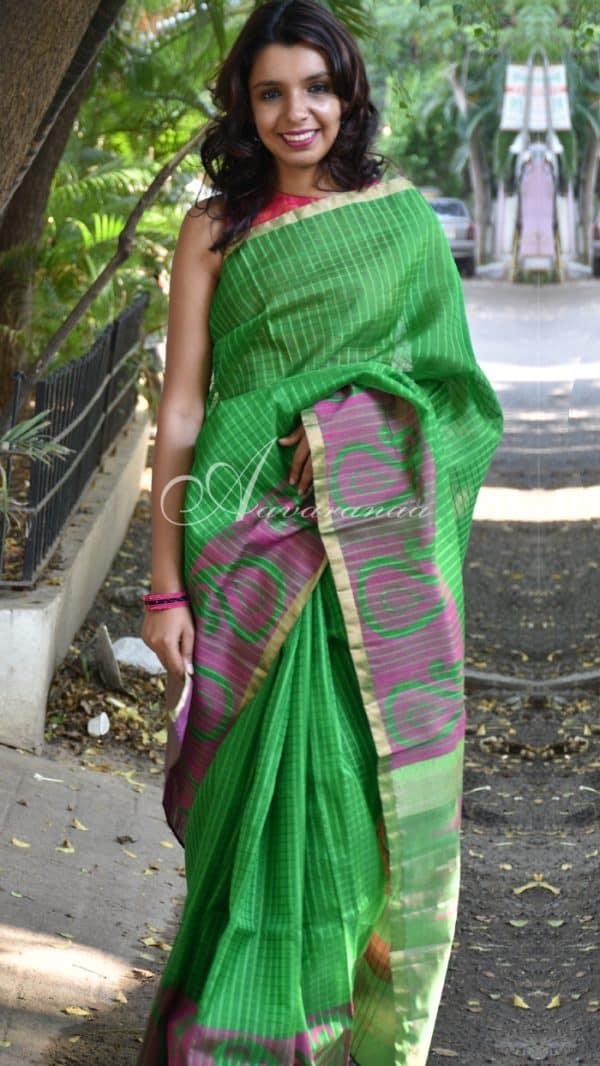 Kora silk in green-0