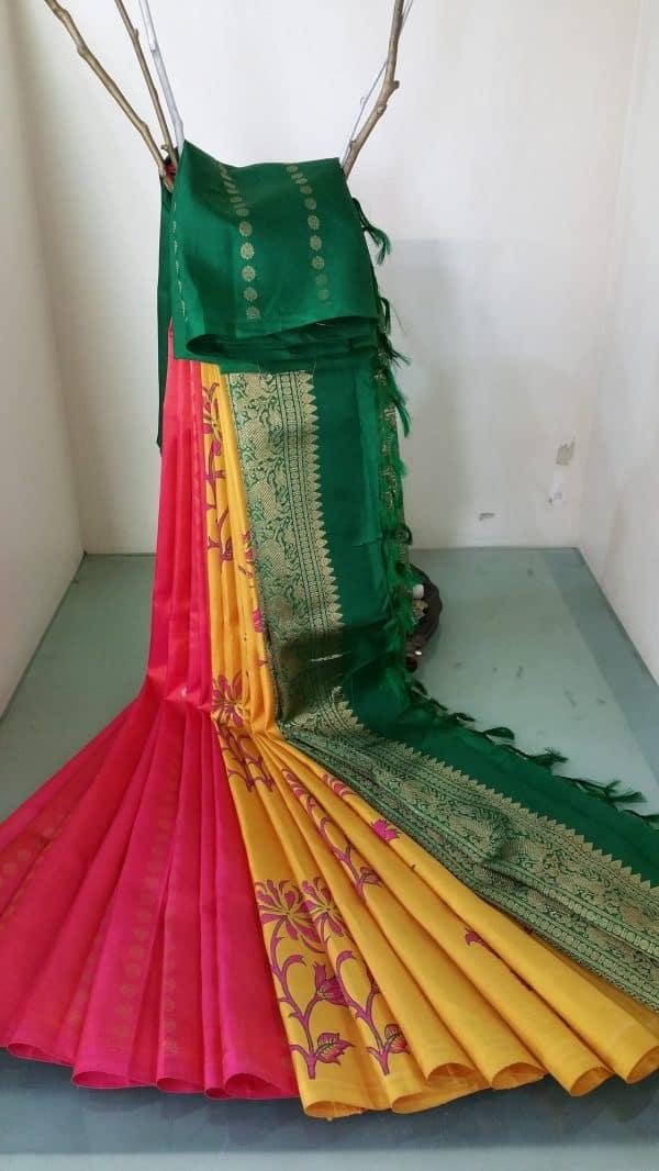 Half and half kanchi silk-0