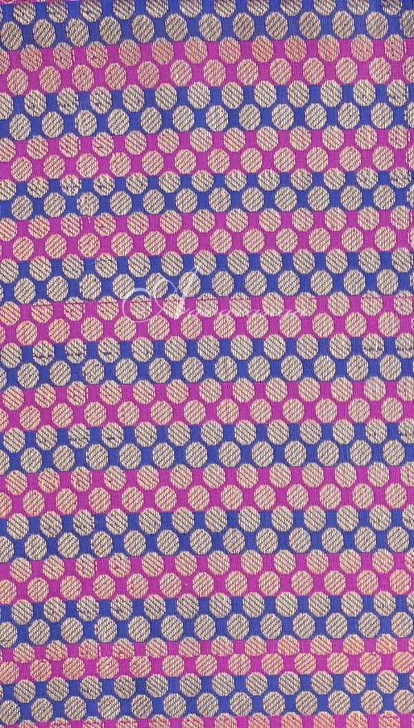 Blue&Pink lines Brocade-0