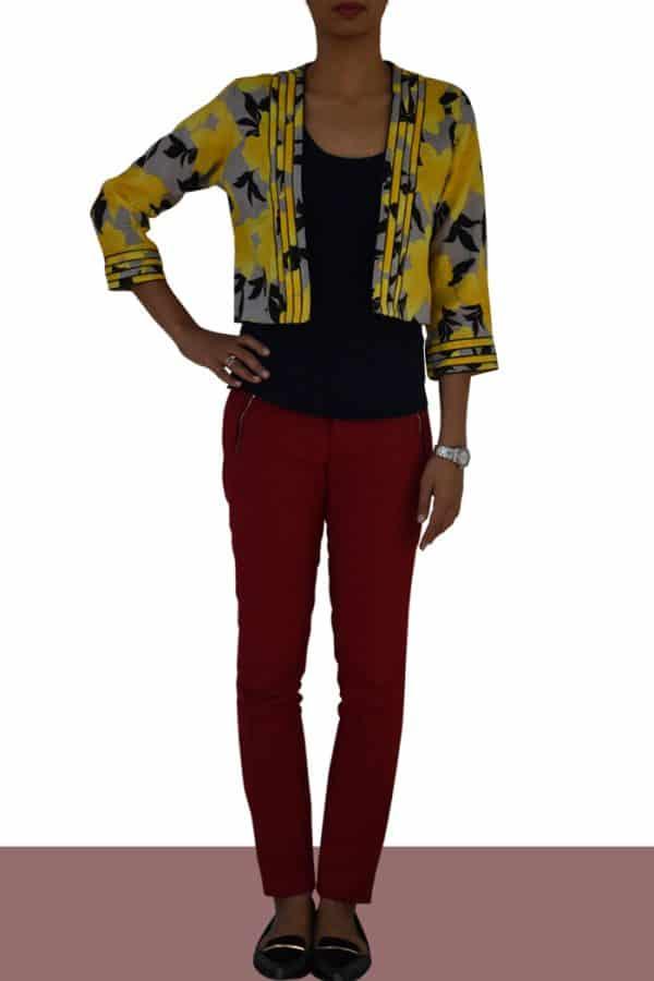 Yellow Linen Jacket-0