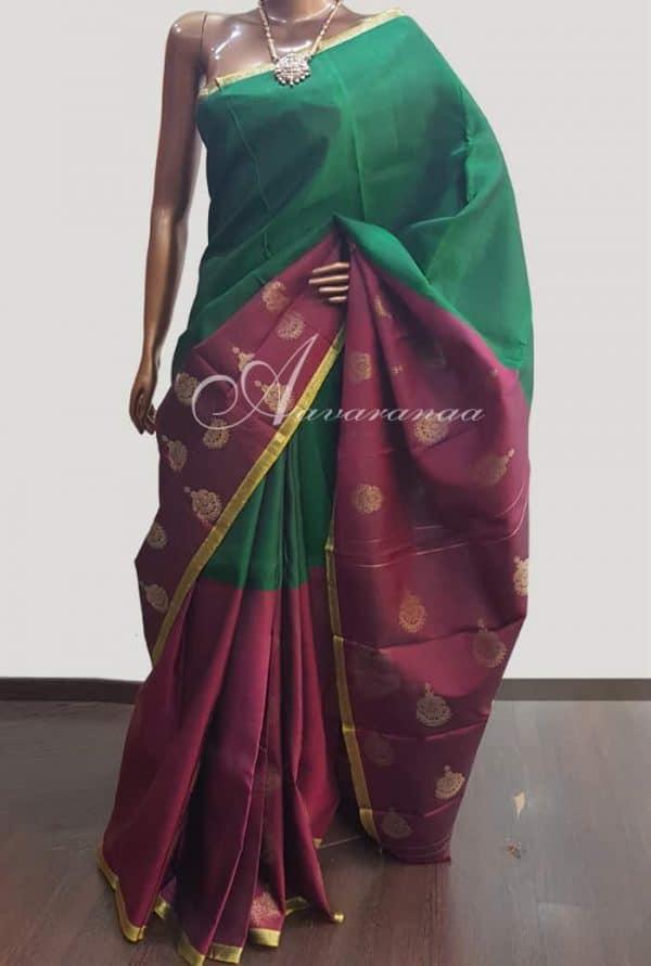 Jewellery design half and half kanchi silk-4516
