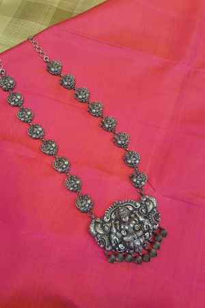 Silver nagas necklace -0