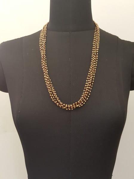 maroon bunch chain-0