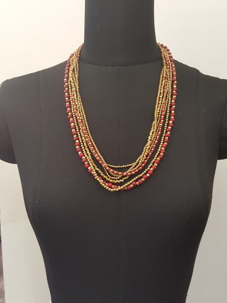 red brass layer bunch chain-0