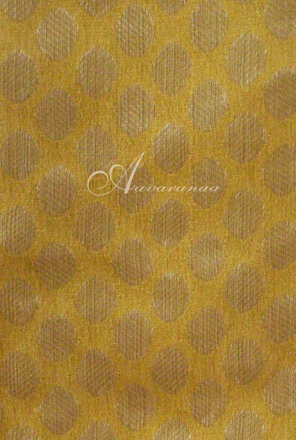Mustard wrinkle crepe saree-5194