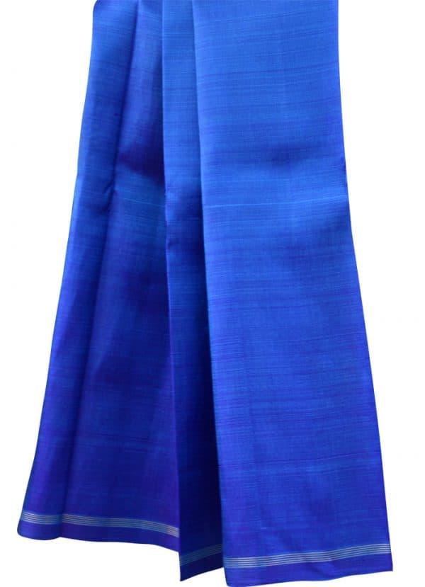 Buy Shaded Blue Kanchipuram Silk Saree | Aavaranaa-5658