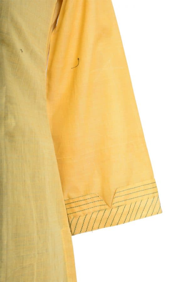 Yellow cotton suit-6017