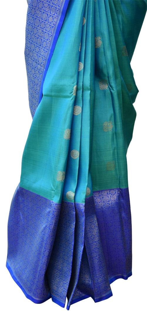 Blue kanchipuram silk saree-5710