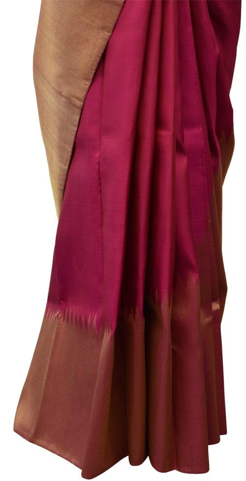Maroon rising border kanchipuram silk saree-5734