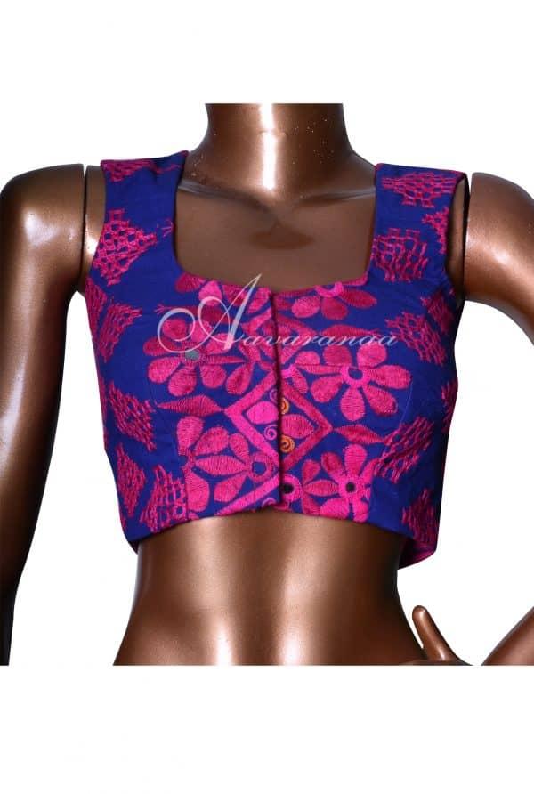 Red and violet 1/2&1/2 shaded silk kota saree-7531