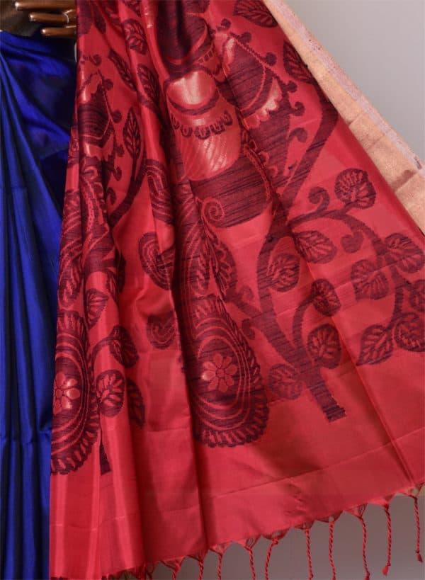 Soft silk in Ms blue-8468