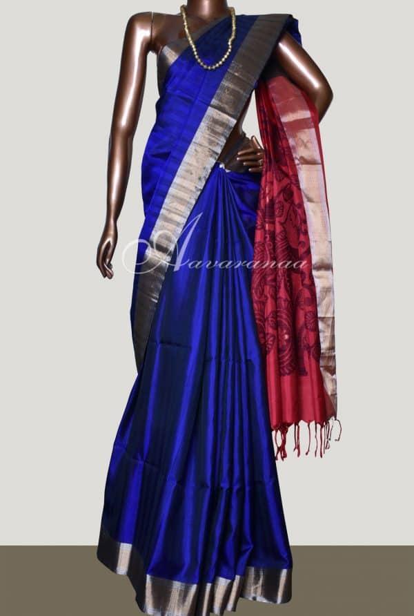 Soft silk in Ms blue-8467