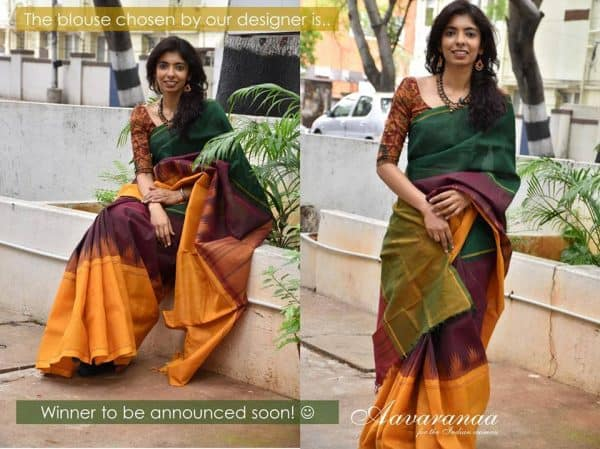 Cotton Mubbagam saree with silk border-9050