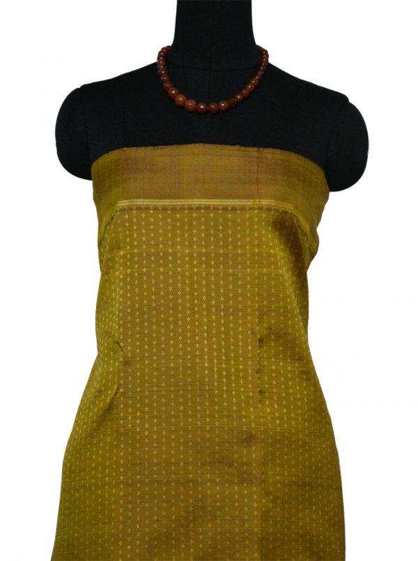 Mustard kanchipuram silk saree -9465