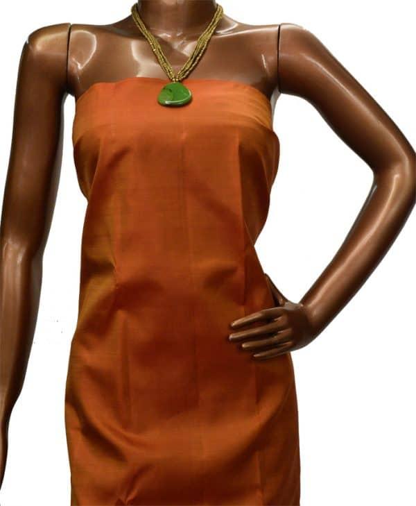 Orange kanchipuram silk saree-8961