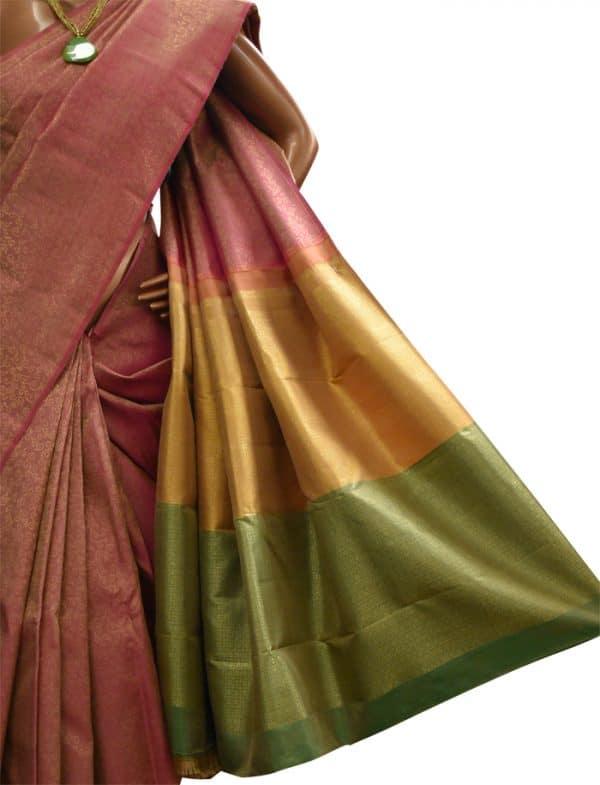 Light majenta kanchipuram silk saree-8970