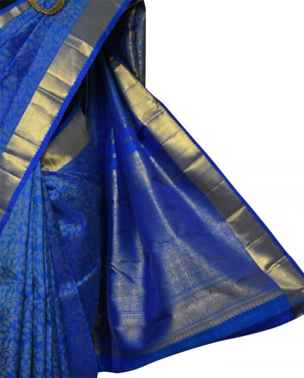 Blue kanchi silk with uppada tec-9042