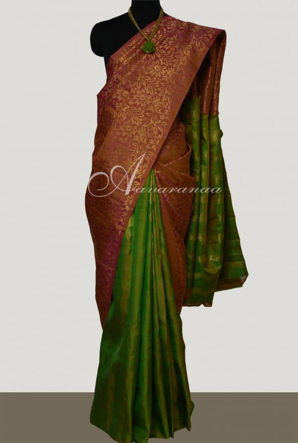 Onion pink and green partly pallu -0