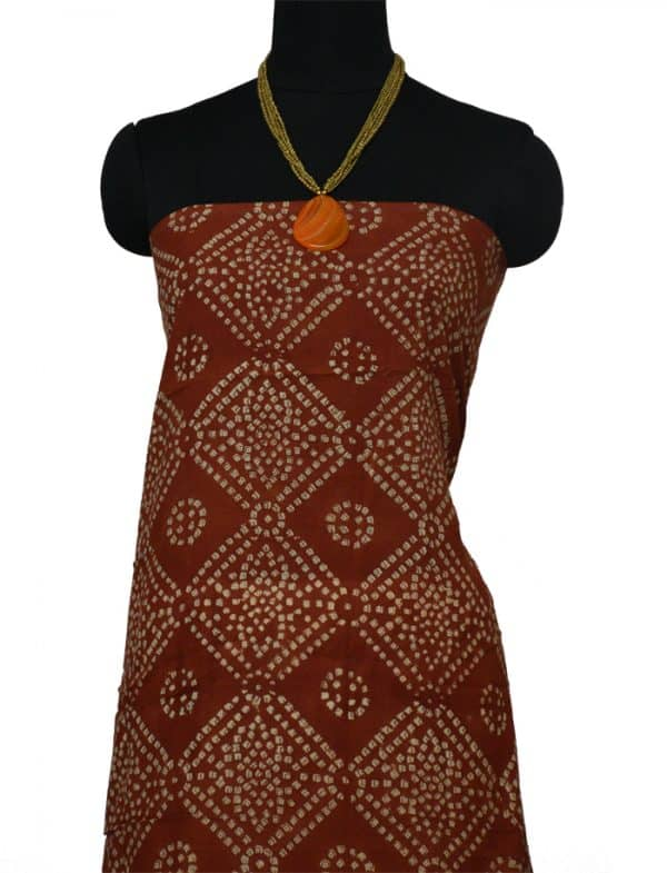 Blue Kota printed saree with rust bagru border-9160