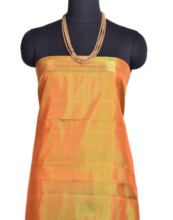 Peach and green kanchipuram silk saree-9901