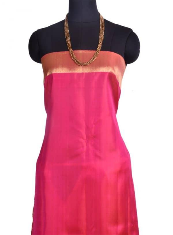Pink bhavanji border kanchipuram silk saree -10131