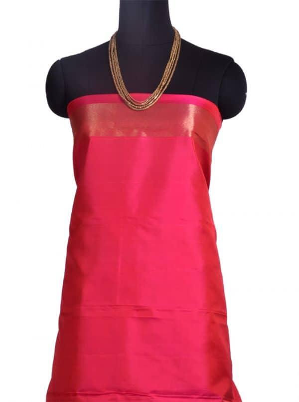 Pink and orange kanchipuram silk saree -10289