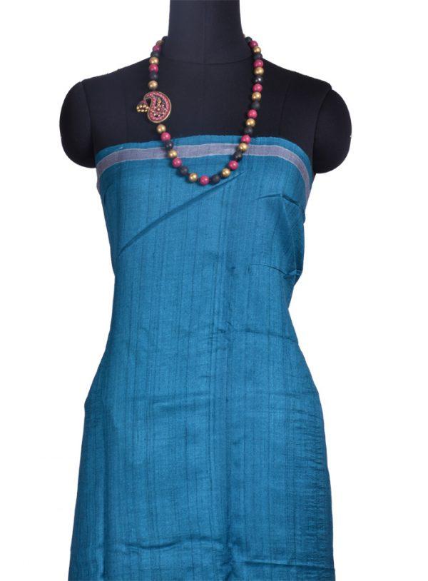 Black , blue & Violet shaded tussar saree-10363