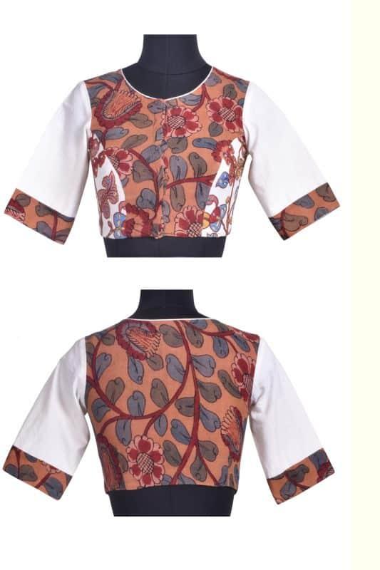 Cotton kalamkari blouse-0