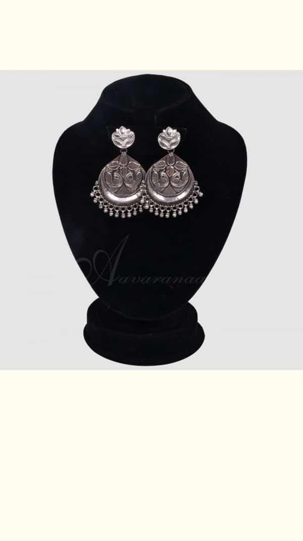 Oxidised silver earrings-0