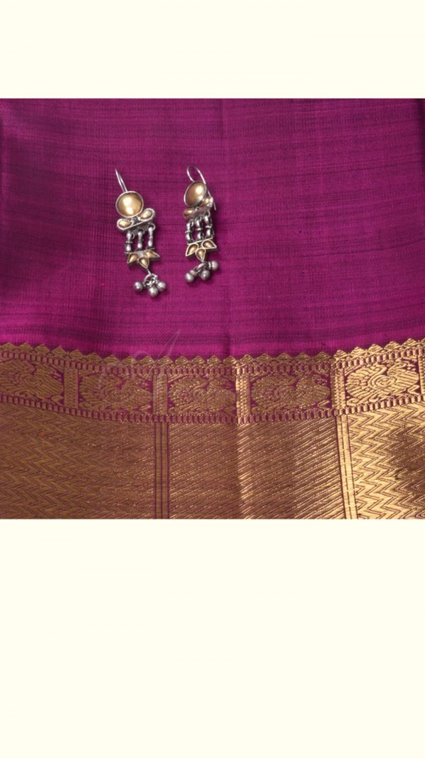 Gold and silver 2 tone earring-0