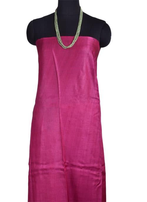 Mustard tussar saree with pink buttis-10787