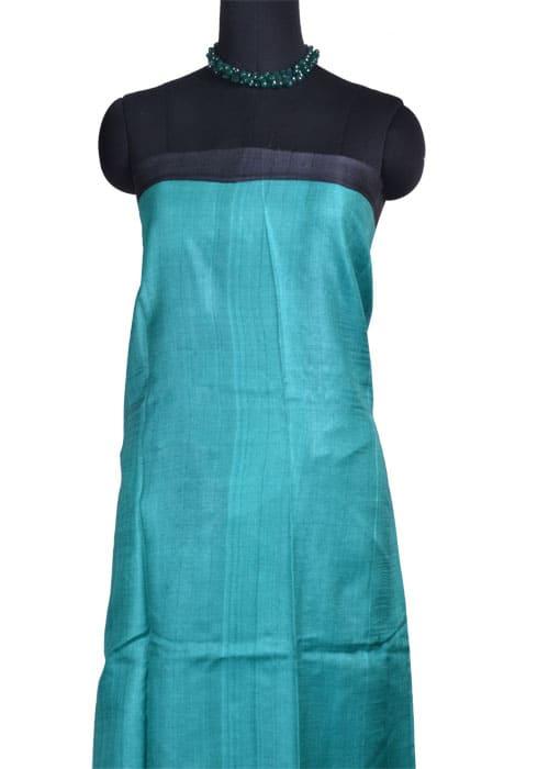 Purple blue printed tussar saree-10789
