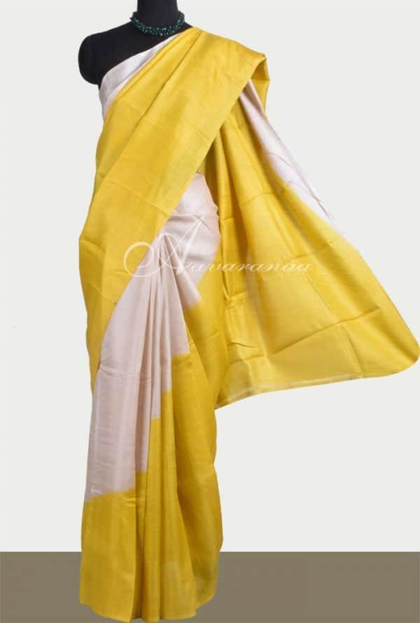 Yellow beige rising border-0