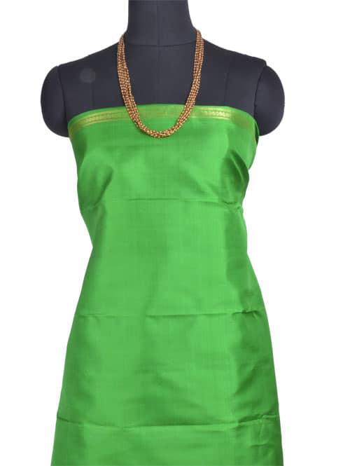 Peach and green partly pallu kanchipuram silk saree -11003