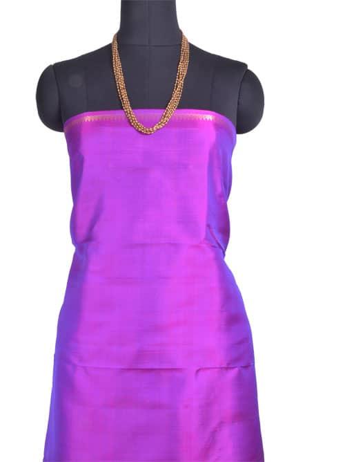 Peach and purple 1/2 & 1/2 Kanchipuram silk saree -11015