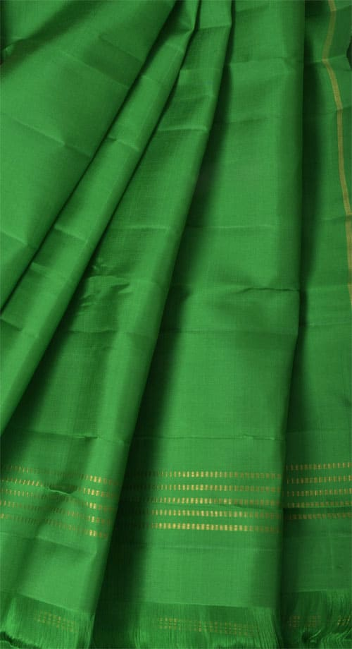 Pink and green kanchipuram silk sari -11041