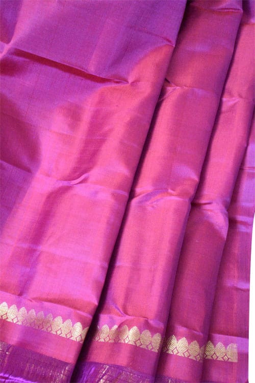 Blue and pink 1/2&1/2 kanchipuram silk saree -10995