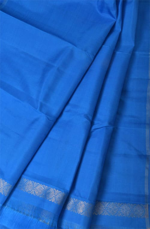 Blue and green 1/2&1/2 kanchipuram silk saree -10997