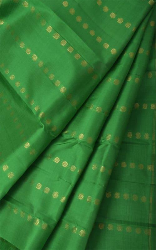 Pink, blue and green partly pallu kanchipuram silk saree-10999