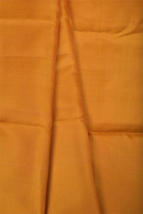 Navy blue and mustard half& half kanchipuram silk saree -11249