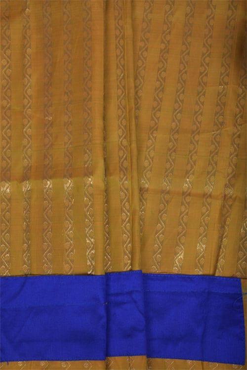 Pink chiffon saree with kanchi silk border-11340