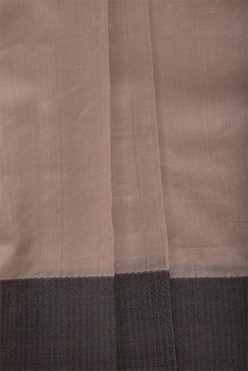 White mutka silk block printed saree-11361