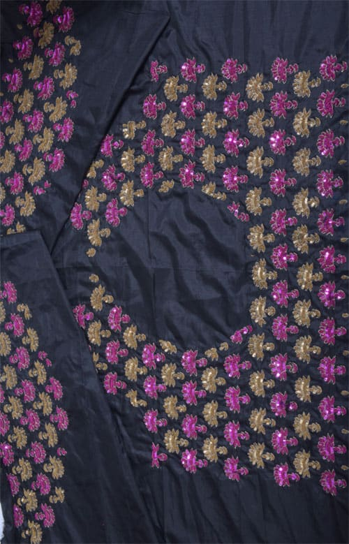 Black silk kota skirt saree-11393